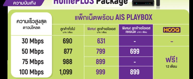 โปรเน็ต AIS Fibre