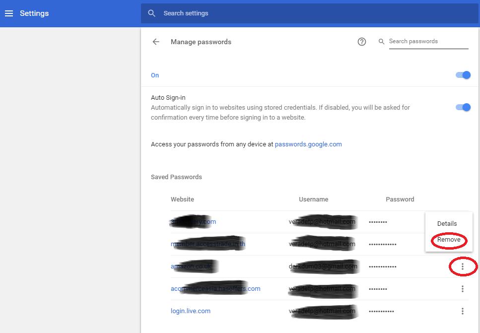 วิธีลบ Password Google Chrome
